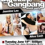 UK pornstar Gangbang party