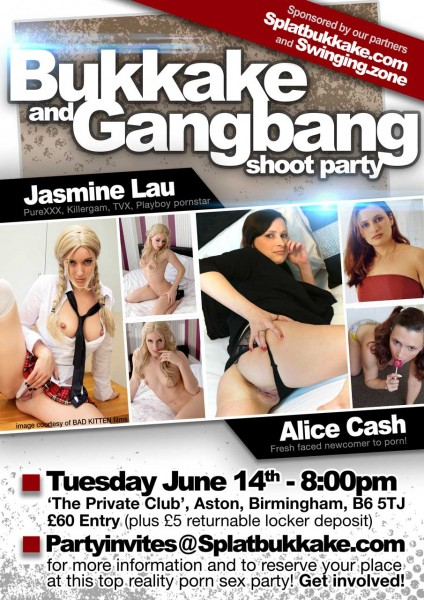 UK pornstar Gangbang party
