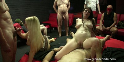 Creampie gangbang with Gina Blonde and Sabrina Deep